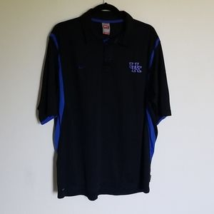 NIKE Fit-Dry UK Kentucky Team Black Polo L